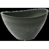 "Valencia Wave Bowl Planter 20""x14""x11"" Charcoal"