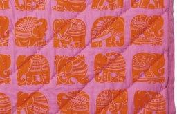 Tangerine Elephant Quilt
