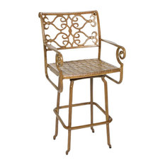three coin cast veracruz solid cast aluminum swivel barstool bronze bar stools and