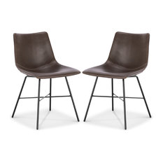 Poly and Bark Paxton Dining Chair, Set of 2, Brown