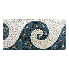 "Waves Border Mosaic, 12""x6"""