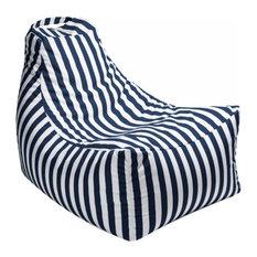 Ja Casual Living Juniper Outdoor Bean Bag Chair Navy Stripes Chairs