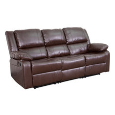 Delicieux Flash Furniture   Leather Sofa With 2 Built In Recliners   Sofas