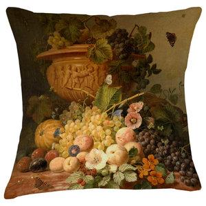 Velvet Tableau Cushion, Peaches
