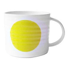 Spot Mugs, Yellow, Medium, Set of 2