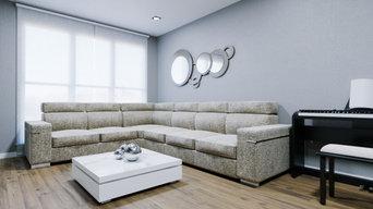 Salón Contemporáneo Diseño 3D Realidad Virtual