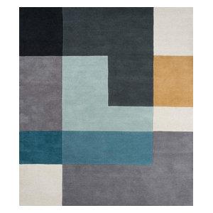 Linie Tetris Rug, Aqua, 200x300 cm