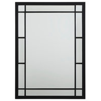 Chelsea Mirror, Black Metal and Beveled Glass