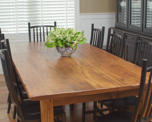Antique Wormy Chestnut Farmhouse Dining Table