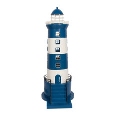 Stepped Electric Lighthouse Ornament