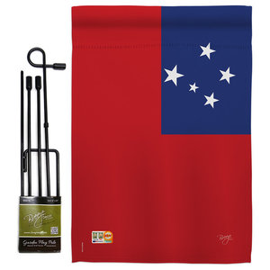 Usa Flags Of The World Nationality Garden Flag Set Modern Flags And Flagpoles By Breeze Decor