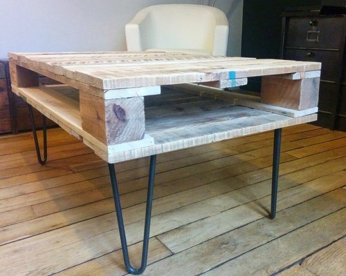 Table basse en palette de bois - Fabrication table basse palette ...