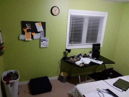 I want to be able to maximize the space in the room . Originally I had the desk in the corner under the cork board but I didn\u0027t really like that layout. & Arranging furniture in a small room