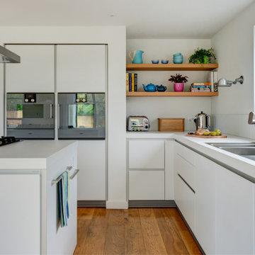 A sleek handleless kitchen