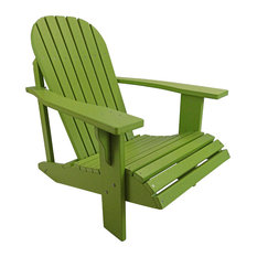Adirondack Chair in Classic Style made from Poly Lumber, Lime