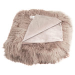 """Fibre by Auskin - Tibetan Lambskin 60""""x70"""" Throw, Birch - Tibetan lambskin is the epitome of luxury. Soft and textural, these throws are an amazing accent to any room of your home. Backed with a cotton velvet fabric."""