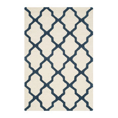 Ava Ivory and Navy Rug, 121x182  Cm