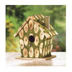 Moss-Edged Birdhouse