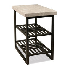 Modern End Table With Shelf