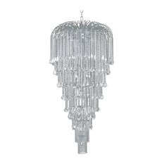 Artistry Lighting, Chandelier 1804C36 Falls Collection, Chrome