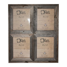 "Carolina Reclaimed Rustic Barn Wood Collage Photo Frame, 8""x10"""