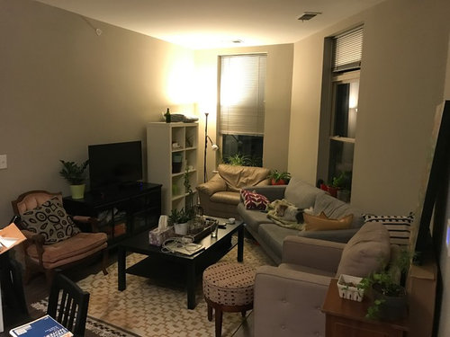 small odd shaped living room layout