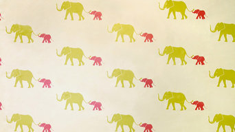Tusk Removable Wallpaper, Flamingo Pink