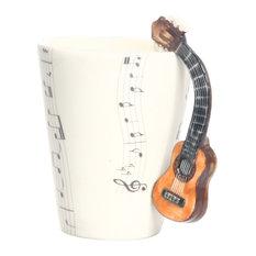 Acoustic Guitar 3D Ceramic Mug
