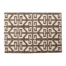 Light Brown Wool Rug