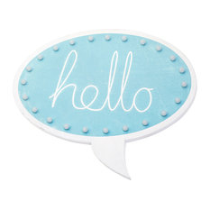 Blue ''Hello'' Speech Bubble Wall Light