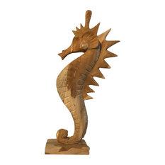 Teak Wood Seahorse Sculpture