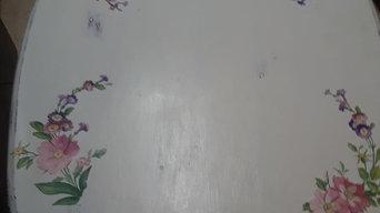 Coffee Table (chalk paint-decoupage-resin epoxy)