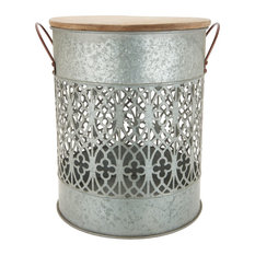 Zinc Garden Stool and Storage Container