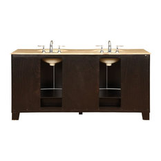 Naples Bathroom Vanity With Double Sink and Dual Cabinet