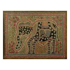 Novica Elephant Harmony Madhubani Painting