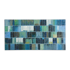 "Uttermost ""Glass Tiles"" Modern Art, 60""x30"""
