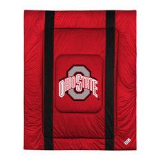 NCAA Ohio State Buckeyes Queen Comforter Sidelines Bed
