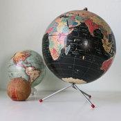 Vintage Retro Black Globe by Bellalulu Vintage