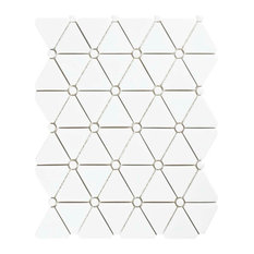 Expresiones Glass Mosaic Floor and Wall Tile, Treux