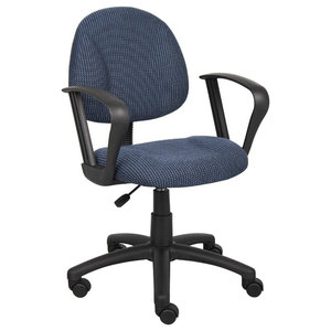 Boss Blue Deluxe Posture Chair With Loop Arms