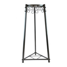 "Goldwell Designs 32"" 2-Step Metal Stand, Dust Black"