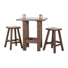 Barnwood Pub Table Set, Weathered Finish