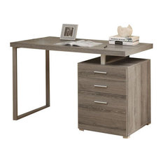 Monarch Specialties - Computer Desk, Dark Taupe, Left/Right Facing, 48