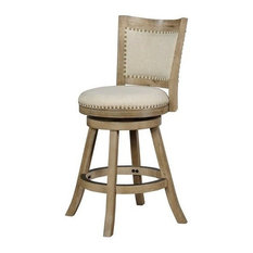 Linon Tyler 24-inch Wood Counter Stool In Driftwood Gray