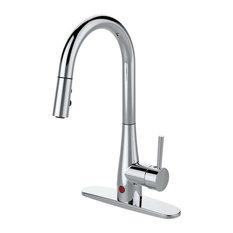 Runfine Group   Runfine Hands Free Single Handle, Pull Down Sprayer Kitchen  Faucet