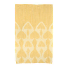 Watermark, Geometric Print Beach Towel, Yellow