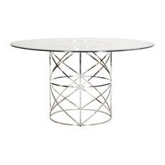 X-Motif Dining Table Base, Nickel