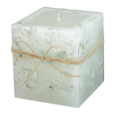 Clear & Crystal Square Candle, Apricot Chai