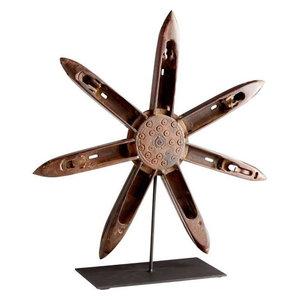 "Cyan Lighting Alexandria - 19.25"" Small Sculpture, Rustic/Matt Black Finish"