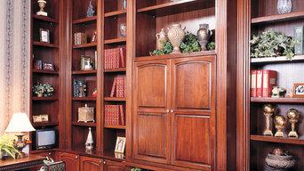 Custom Built Home Office Library
